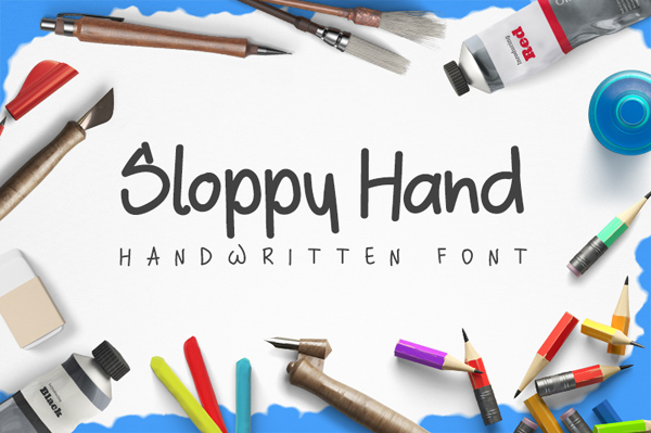 Sloppy – Free Brush Font