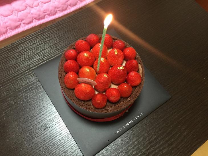 투썸플레이스 스트로베리초콜릿생크림 케이크