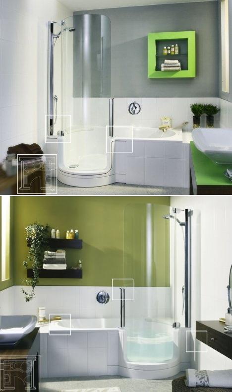 샤워. 욕조 디자인