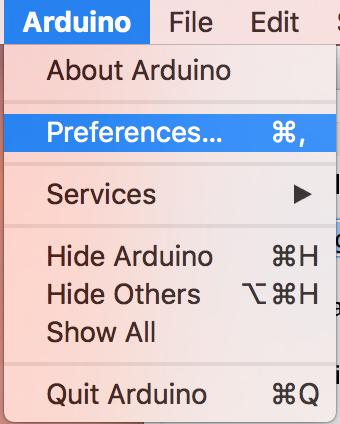 그림 2 : Preferences 메뉴