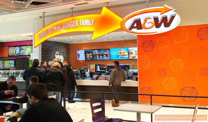 미국 패스트푸드 체인점 A&W 햄버거
