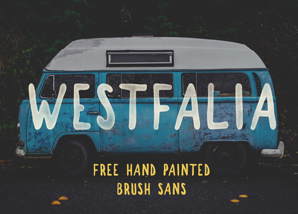 Westfalia – Free Brush Font