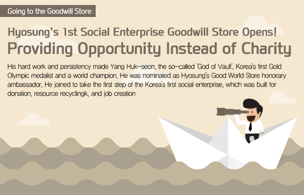 Hyosung's 1st Social Enterprise Goodwill Store Opnes