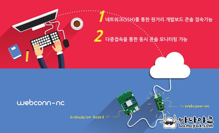 원거리 네트워크 임베디드 보드 콘솔 포트