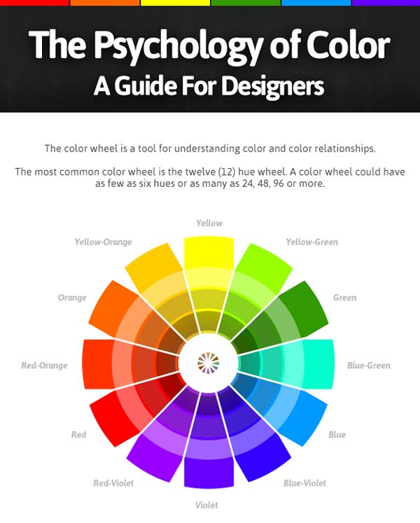 인포그래픽으로 보는 색채 심리학 : 디자이너들을 위한 색상 가이드