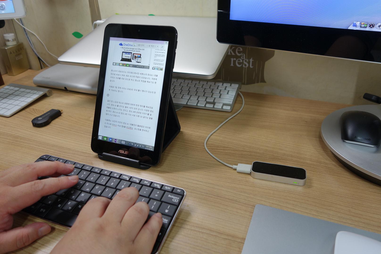 스마트 기기를 위한 키보드 Microsoft 웨지 모바일 키보드[Wedge Mobile keyboard]