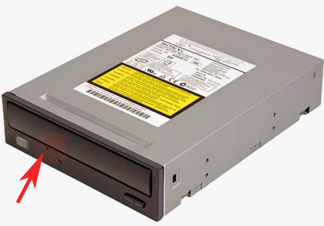 dvd cd롬 드라이브 강제 꺼내기 열기 방법