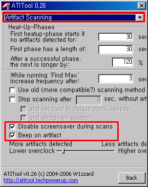 Artifact Scanning Disable screensaver during scans