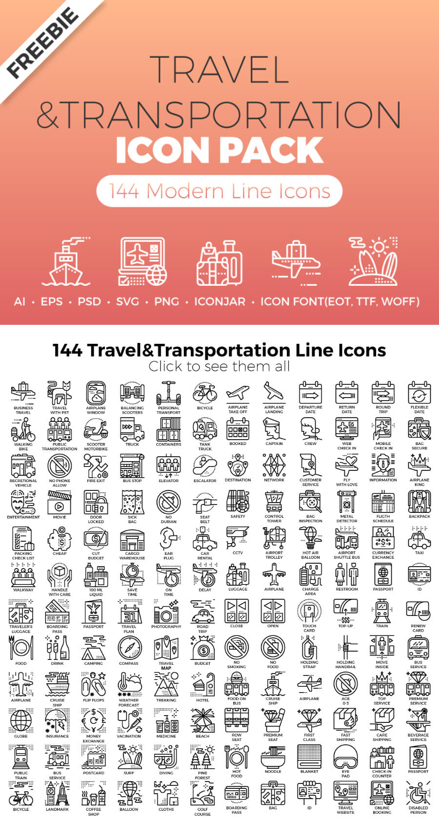 Free Travel Transportaion Icons