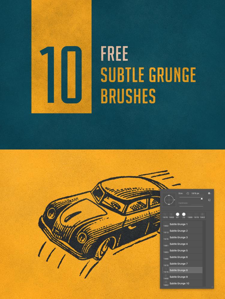 레트로(subtle grunge) 효과를 주는 10 가지 포토샵 브러쉬 - 10 Free Subtle Grunge Photoshop Brushes