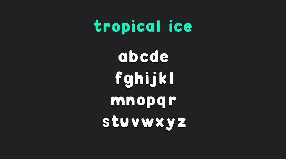 무료 영문 폰트 : Tropical Ice (Free Font)