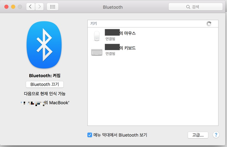 애플 마우스 이름 변경, 애플 키보드 이름 변경,