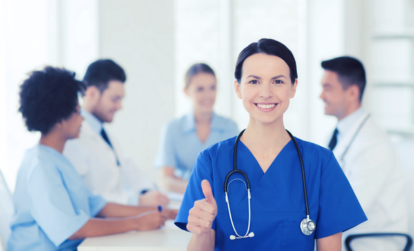 Free Stock Photo JPG file Group of happy doctors at hospital Stock Photo 03
