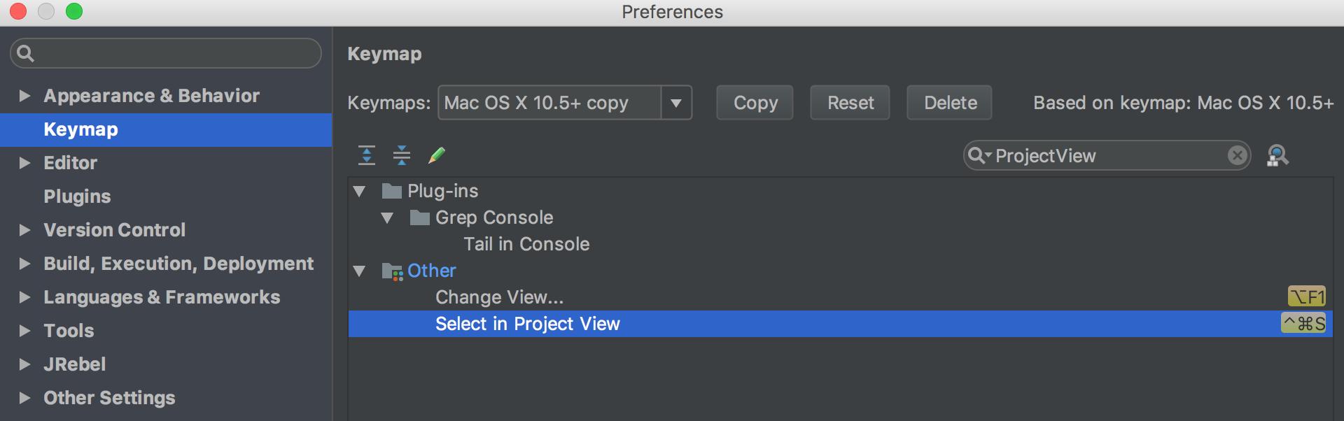 semanticker :: IntelliJ 열린 파일 Project View 에서 확인