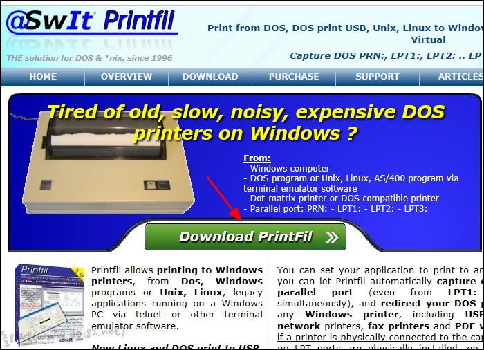 Printfil v.5.18 - 프린터 포트(LPT1) 캡쳐 프로그램
