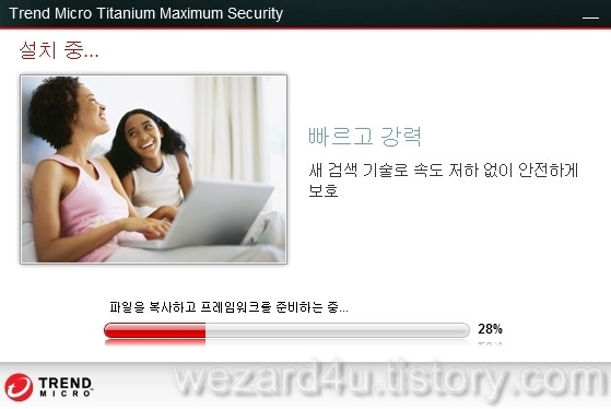 예1)Trendmicro Titanium Maximum Security 설치 과정