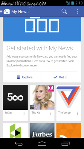 Google Play Newsstand My news