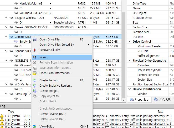 인식 안되는 SD메모리 복구하기, MP4 파일 복구,IT,IT 제품리뷰,유용한 팁,복구,SD메모리,R-Studio,인식 안되는 SD메모리 복구하기를 R-Studio 를 통해서 해보도록 하겠습니다. R-Studio 메뉴얼은 만들어뒀었는데요. 많은 분들이 아직도 그 글을 보고 있네요. 그런데 이번에는 제가 MP4 파일 복구 때문에 이것을 사용해봤습니다. 사용해보면서 주의해야 할 점과 인식 안되는 SD메모리 복구하기를 알아보도록 하겠습니다. 캠코더로 영상을 촬영했는데 카드리더기에 넣어서 사용하는 중에 갑자기 저장장치 읽기가 안되더군요. 그러더니 디스크를 포멧하라고 뜹니다. 만약 포멧을 해버리면 더 데이터를 복구하는 것이 힘들어집니다. 인식 안되는 SD메모리 복구할 때 가장 먼저 해야할 점은 더이상 쓰기가 안되도록 막아두는 것 입니다. SD메모리에는 쓰기방지가 있습니다. 이것을 걸어두면 더 이상 쓰기가 진행이 안되죠. 이렇게 하면 왠만하면 거의 모든 파일을 복구가 가능 합니다. 근데 이것을 하지 않고 포멧을 하거나 포멧한 상태에서 복구를 하려고 노력하다보면 저장장치의 속도를 높이기 위해서 최적화가 진행되고 그로 인해서 복구가 힘들어 질 수 있습니다.