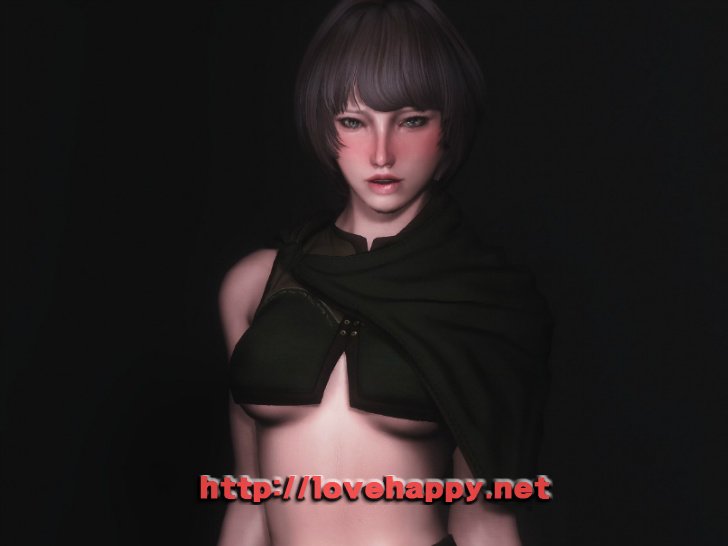 스카이림 의상 - 로그 의상 woodland alchemist dress skyrim mod 001