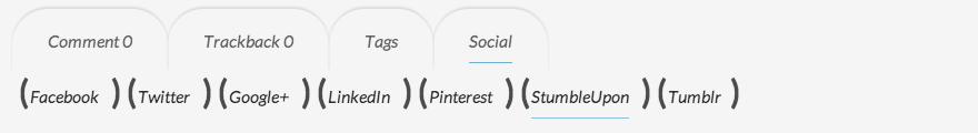 내장형 소셜 메뉴