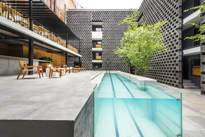 *콘크리트 블록이 인상적인 멕시코 카로타 호텔 [ JSa ] Carlota Hotel