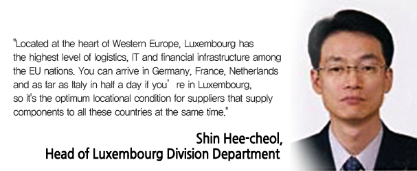 Shin Hee-cheol, Head of Luxembourg Division Department