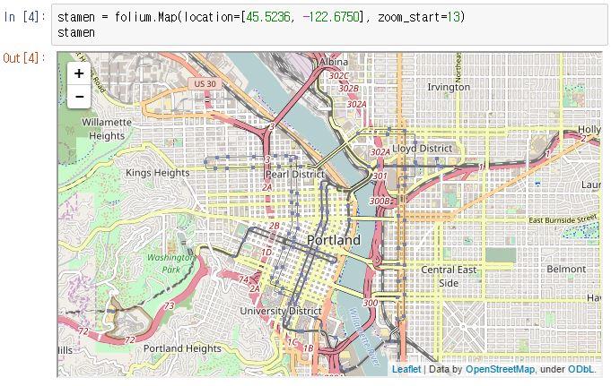 PinkWink :: 지리적 정보를 시각화할 때 괜찮은 Python 지도