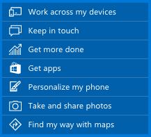 모바일용 윈도10 기능들