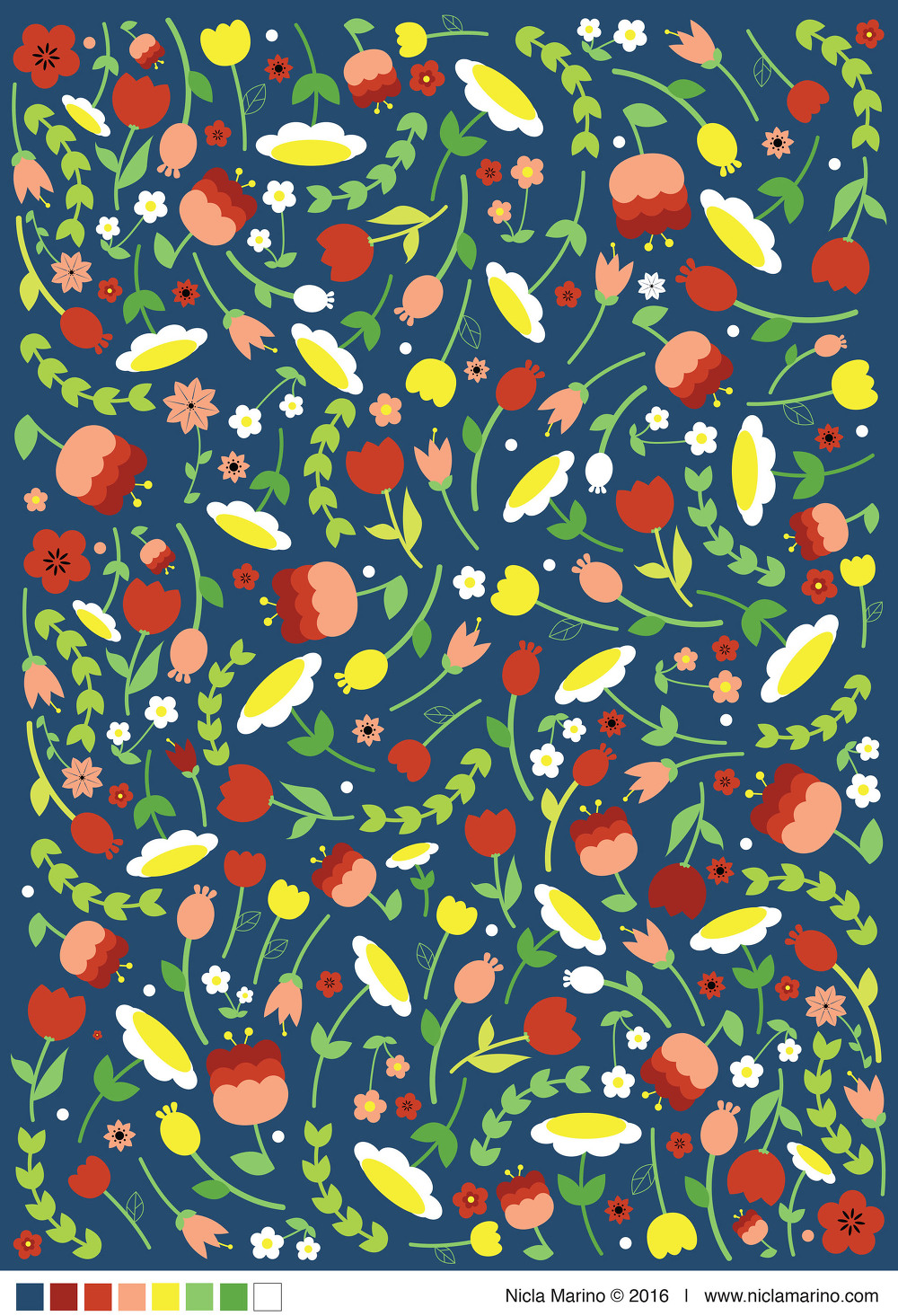 3 가지 무료 벡터 꽃 패턴 - 3 Free Floral Vector Patterns