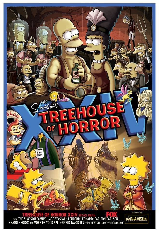 Treehouse of Horror XXIV Couch Gag by Guillermo del Toro