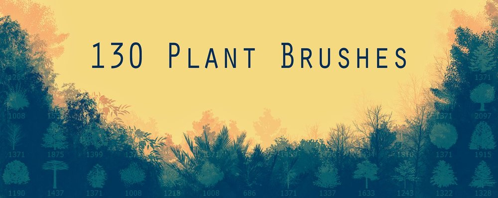 130 가지 식물(plant) 포토샵 브러쉬 - 130 Free Plant Photoshop Brushes