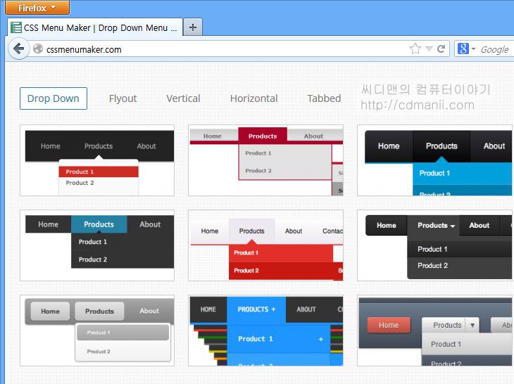 CSS 메뉴 만들기, CSS 메뉴, CSS메뉴, CSS MENU MAKER, IT,CSS 메뉴 만들기를 해보도록 하겠습니다. 방법은 어렵지는 않습니다. CSS MENU MAKER 사이트에 접속해서 원하는 형태를 선택하고 만들기를 하면 만들어집니다. 사용방법도 간단한게 장점이구요. CSS 메뉴 만들기 내부 메뉴에는 템플릿으로 미리 만들어진것도 존재하고 또는 직접 만들 수 도 있습니다. 물론 잘만들어진 템플릿 선택 후 원하는 내용만 수정할 수 도 있습니다. 생각보다는 꽤 여러가지 템플릿이 있으며 쉽고 빠르게 메뉴를 꾸밀 수 있다는 점이 장점입니다. 그런데 애드센스 정책상 위에 뭔가 떠 있으면 안된다는것 때문에 약간 사용상 제한은 있을 듯 합니다. 블로그 상단에 쓰일 때 말이죠. 사이드바에 메뉴를 넣으면 상관없겠지만요. 이부분은 잘 확인해보시고 적용해 보시기 바랍니다.