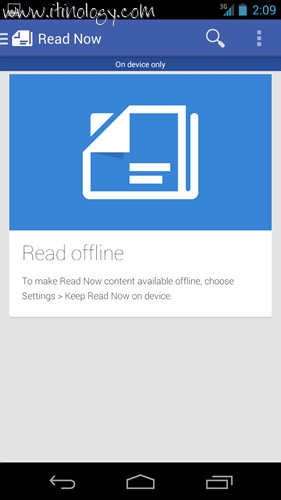 Google Play Newsstand on device only