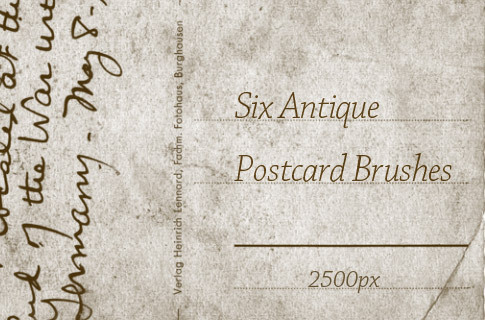 6 가지 앤틱 포스트카드/엽서(antique postcard) 포토샵 브러쉬 - 6 Free Antique Postcard Photoshop Brushes