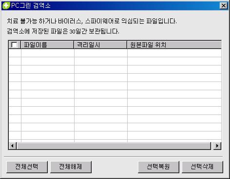네이버 PC그린 검역소