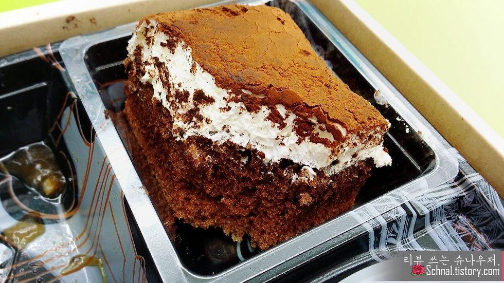 GS25 편의점 셰프의 도시락 초코 케이크