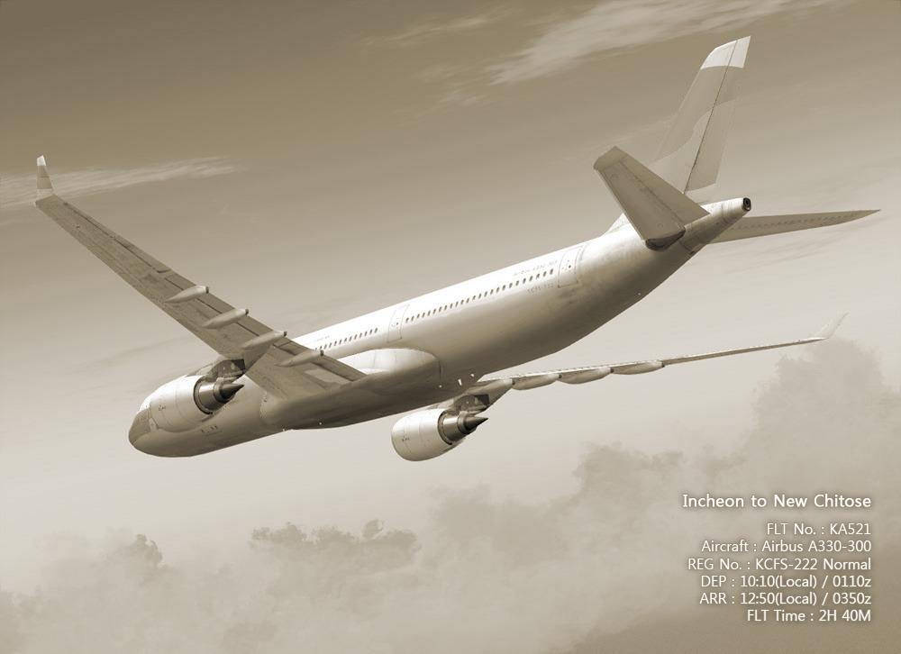 반쪽날개의 환상누각 :: kawa A330-300 KA521 (KCFS-222) Incheon to New
