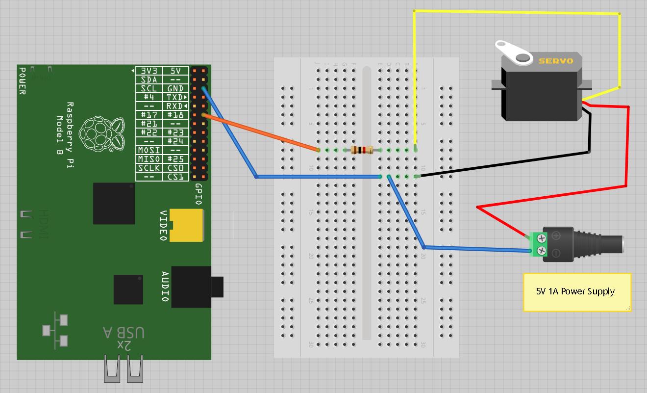 Raspberry Pi Servo Motor C Example Wiringpi Php Wrapper