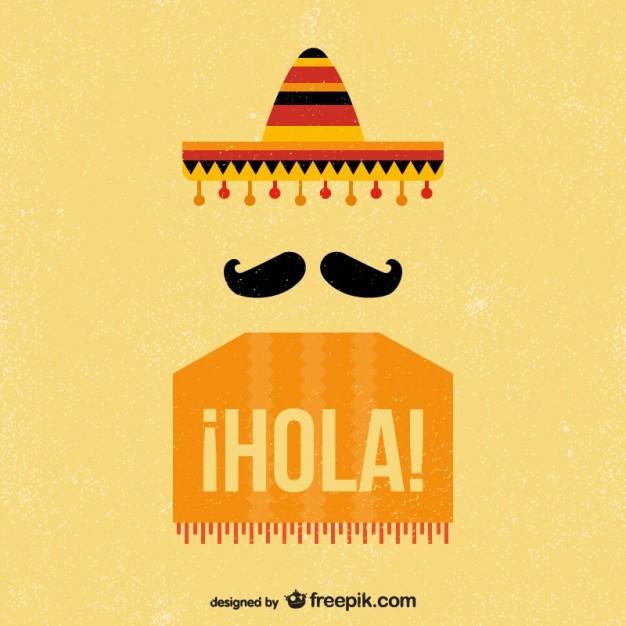 멕시코 빈티지 콧수염 이미지 일러스트 소스
