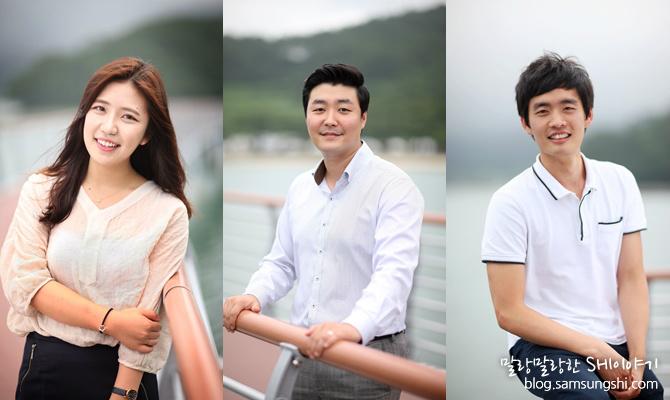 왼쪽부터 Project Schedule 김가현 사원, 구매팀 노은종 사원, 구조설계팀 서준규 사원