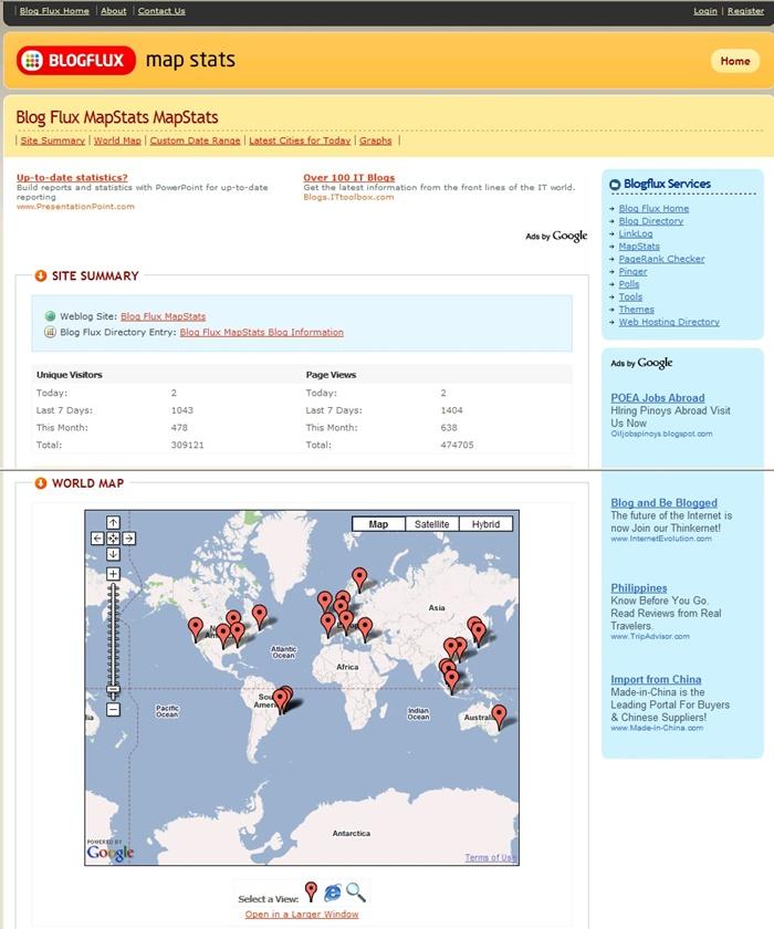 블로그 통계 툴, mapstats
