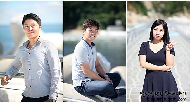 좌측부터 해양공사팀 박재언 사원, 운반선의장팀 우종우 사원, 구매팀 이나연 사원