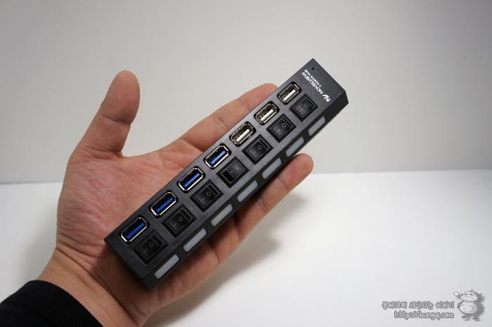 노벨뷰, 7포트, USB 허브, 후기, 디자인