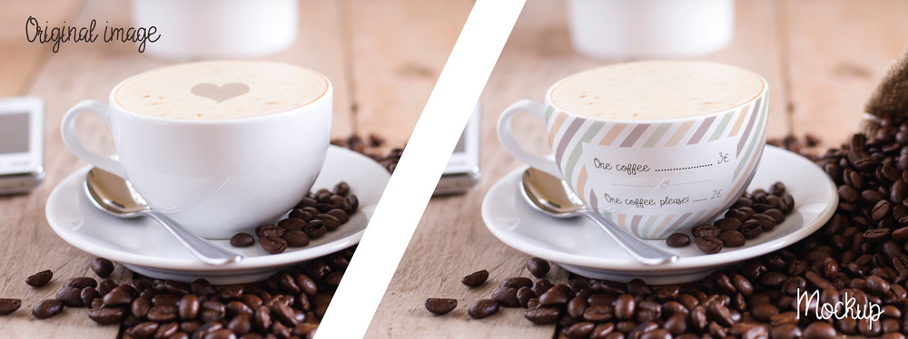 무료 커피잔 목업 PSD - Free Cup Of Coffee Mockup PSD