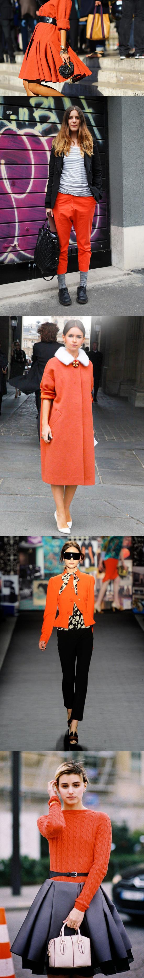 [남자,여자] 주황색 코디 하기! 어울리는 색!