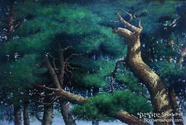 소나무-아리랑 (전국 근로자 미술제 특선작)