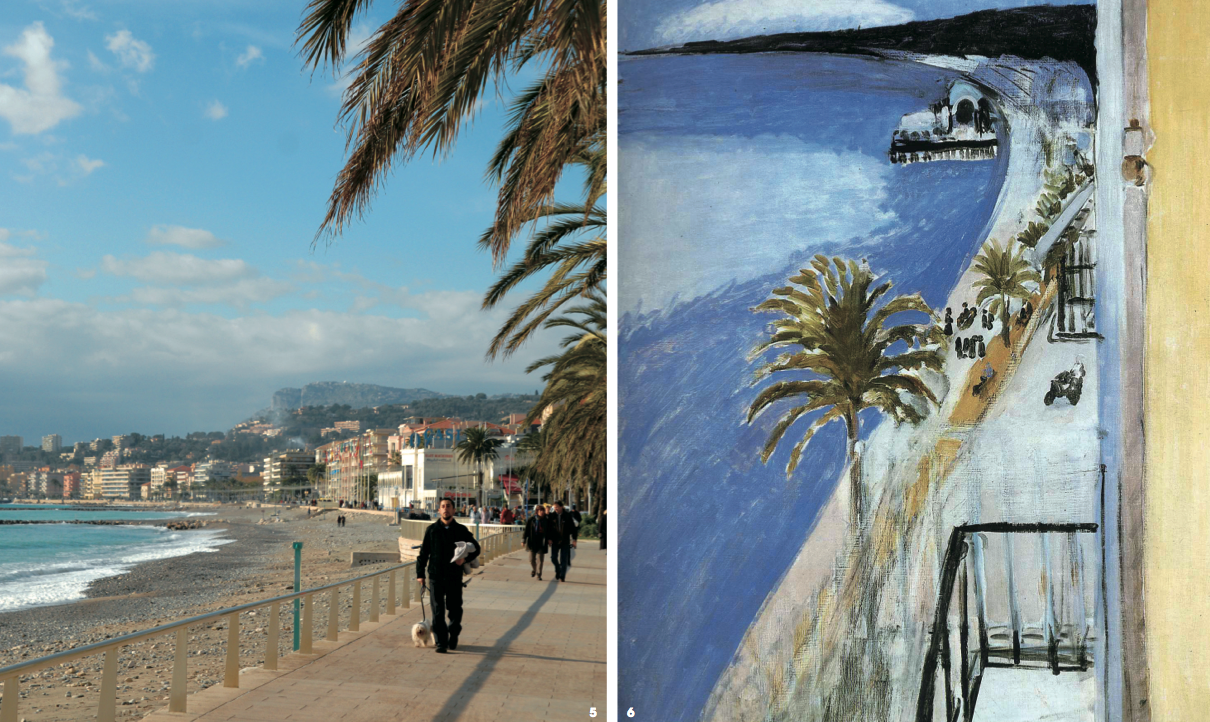 5.프랑스 남부의 대표인 해변가 인니스 풍경. 6.'The Bay of Nice', Henri Matisse, 90×71cm, 1918