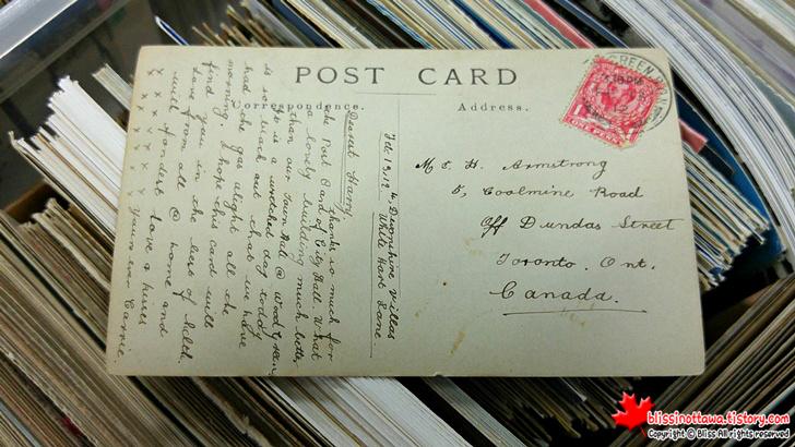 오래된 캐나다 엽서