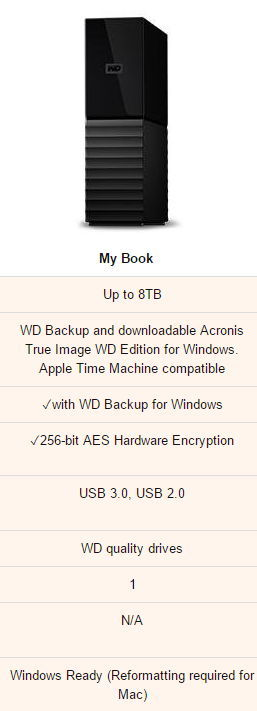WD 6TB My Book Desktop External Hard 3.5인치 신형