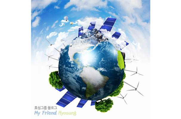지구촌을 신재생에너지로 두른 이미지샷입니다.